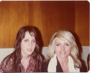 Lois Richwine and Debbie Harry, backstage 1978