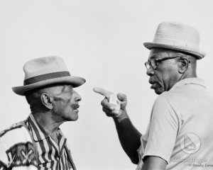 Mance Lipscomb, left, and Sunnyland Sunnyland Slim