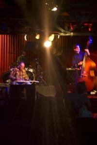 Jon Dee Graham and Jesse Sublett (right), playing the darkest, starkest bluest murder ballads to be found in Austin, Texas..